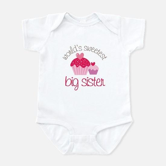 world's sweetest big sister Infant Bodysuit