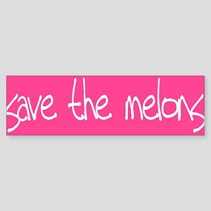 Save The Melons Bumper Sticker