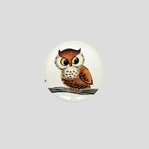 Vintage Owl Mini Button