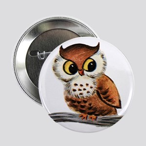 "Vintage Owl 2.25"" Button"
