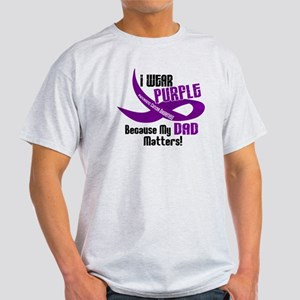 I Wear Purple For My Dad 33 PC Light T-Shirt