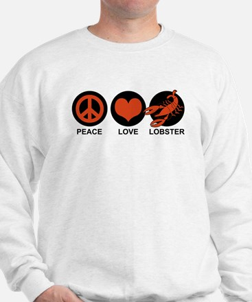 Peace Love Lobster Sweatshirt