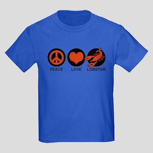 Peace Love Lobster Kids Dark T-Shirt