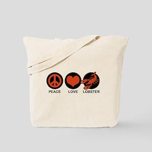 Peace Love Lobster Tote Bag