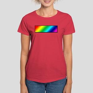 Pride Rainbow (rectangle) Women's Dark T-Shirt