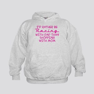 I'd Rather Be Racing With Dad Kids Hoodie