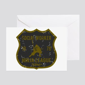 Social Worker Ninja League Greeting Cards (Pk of 1