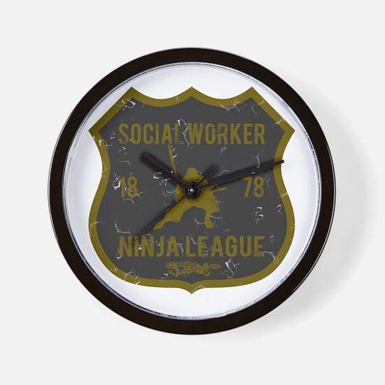 Social Worker Ninja League Wall Clock