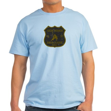 Social Worker Ninja League Light T-Shirt