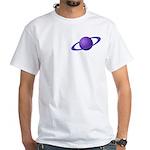 Purple Planet White T-Shirt