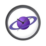 Purple Planet Wall Clock