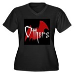 Others Bat Women's Plus Size V-Neck Dark T-Shirt