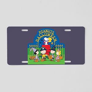 The Peanuts Gang Halloween Aluminum License Plate