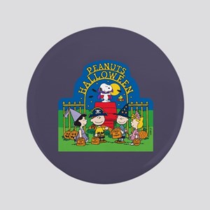 """The Peanuts Gang Halloween 3.5"""" Button"""