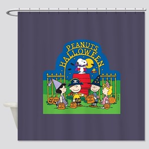 The Peanuts Gang Halloween Shower Curtain