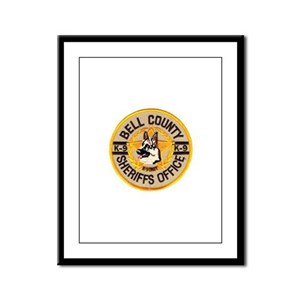 Bell County Sheriff K9 Framed Panel Print