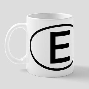 Spain - E - Oval Mug