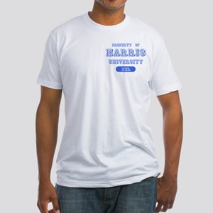 Property of Harris University Fitted T-Shirt