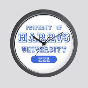 Property of Harris University Wall Clock