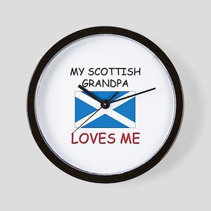 My Scottish Grandpa Loves Me Wall Clock