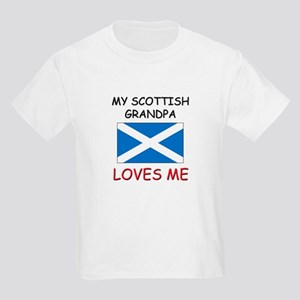 My Scottish Grandpa Loves Me Kids Light T-Shirt