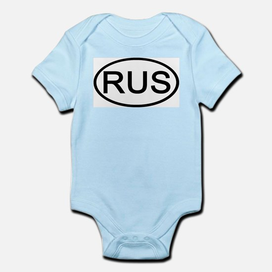 Russia - RUS - Oval Infant Creeper
