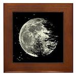 A Full Moon On New Years Day Framed Tile