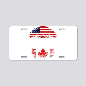 American Grown With Canadia Aluminum License Plate
