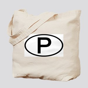 Portugal - P - Oval Tote Bag