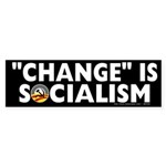 Anti-Obama Change is Socialism Sticker