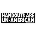 Handouts are Un-American Sticker