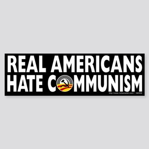 Anti-Obama Real Americans Hate Communism Sticker