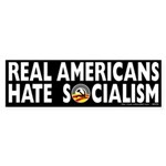 Anti-Obama Real Americans Hate Socialism Sticker