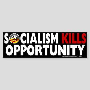 Anti-Obama Socialism Kills Opportunity Sticker