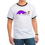 Confused Dinosaur Ringer T