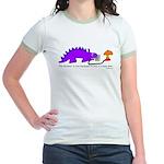 Confused Dinosaur Jr. Ringer T-Shirt