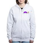 Confused Dinosaur Women's Zip Hoodie