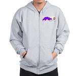 Confused Dinosaur Zip Hoodie