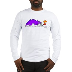 Confused Dinosaur Long Sleeve T-Shirt