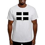 Cornwall Flag Ash Grey T-Shirt