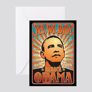 Yes, We Did! Obama Greeting Card