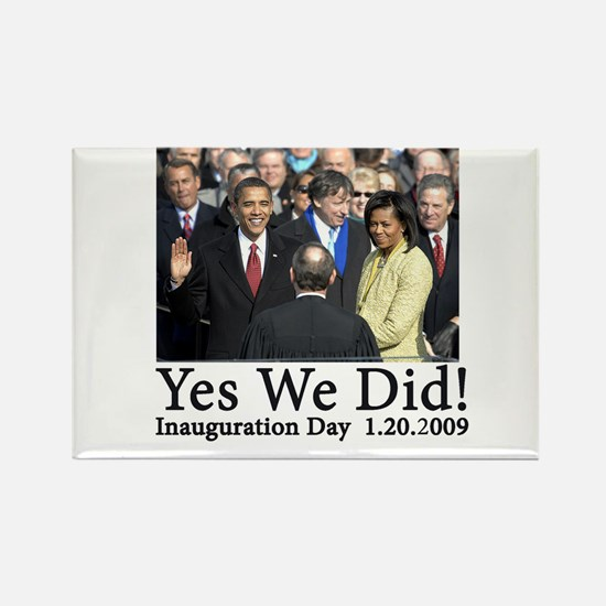 Yes We Did! Rectangle Magnet