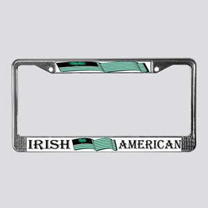 Irish American Flag License Plate Frame