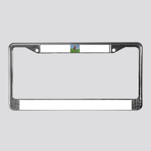 Green Grass and Donuts License Plate Frame