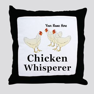 Personalized Chicken Whisperer Throw Pillow