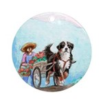 Berner and Cart Ornament (Round)