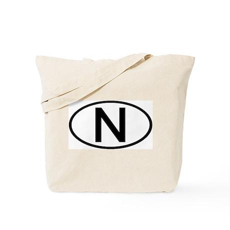 Norway - N - Oval Tote Bag