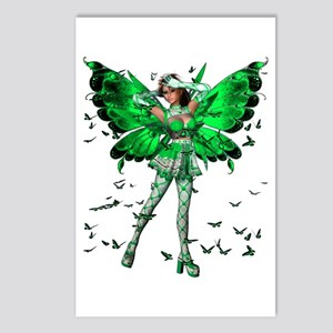 Butterfly Kisses Emerald Postcards (Package of 8)
