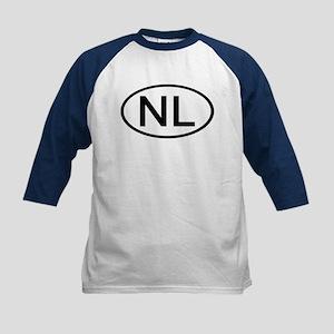 Netherlands - NL - Oval Kids Baseball Jersey