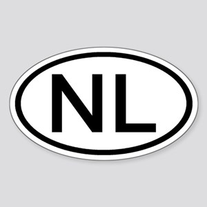 Netherlands - NL - Oval Oval Sticker
